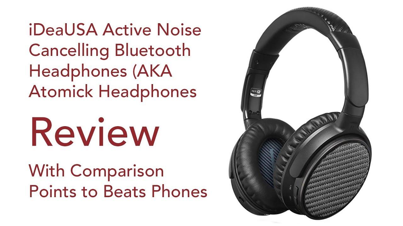 92b09de9acc Atomick Bluetooth Headphone Review - iDeaUSA ANC v201 - YouTube