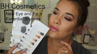 new bh cosmetics face and eye essential brush sets   unboxing video