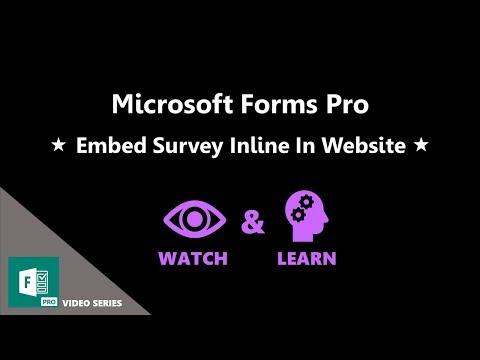 Embed Survey Inline In Website   Full