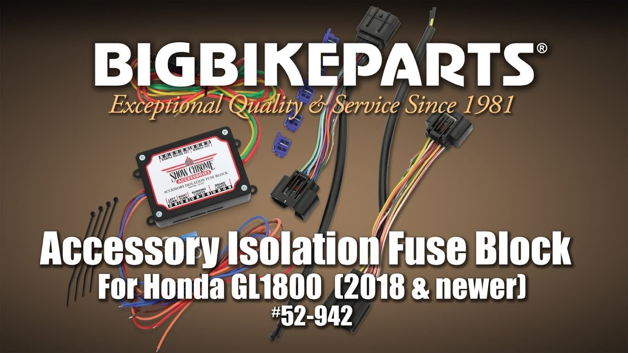 accessory isolation fuse block for honda gl1800 gold wing youtubeaccessory isolation fuse block for honda gl1800 [ 1280 x 720 Pixel ]