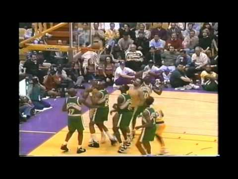 1995 Playoffs Seattle@LA Lakers Game 3 HIGHLIGHTS