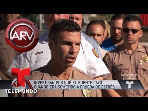 Aumentan muertos tras colapso de puente en Miami | Al Rojo Vivo | Telemundo
