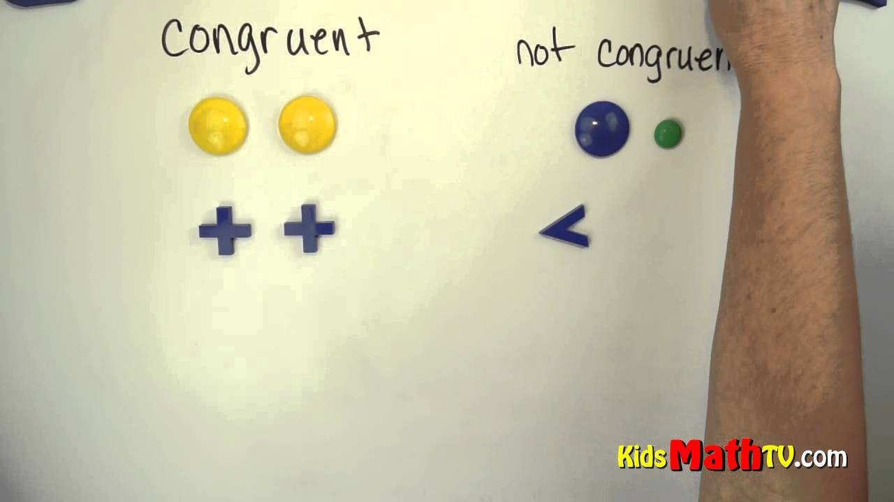 Congruent and non Congruent Figures math lesson. Geometry math lesson for  kids - YouTube [ 720 x 1280 Pixel ]