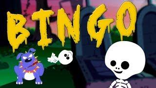 бинго собака песни для детей русские рифмы Halloween Songs Scary Dog Rhymes for Kids Bingo the Dog