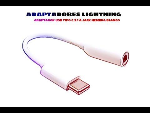 Video de Adaptador USB Tipo C 3.1 a jack hembra  Blanco
