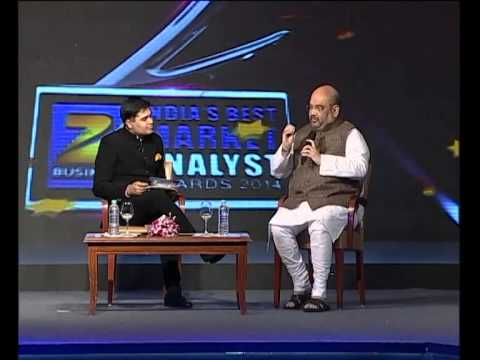 Amit Shah Interview with Zee Business Editor, Amish Devgan,Zee Business Conclave,Mumbai (27dec 2014)
