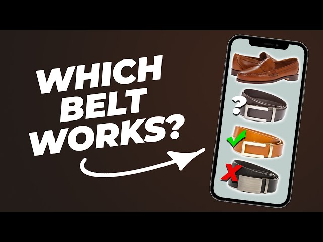 Match Your Belt + Shoes (3 TIPS!) #Shorts • Effortless Gent