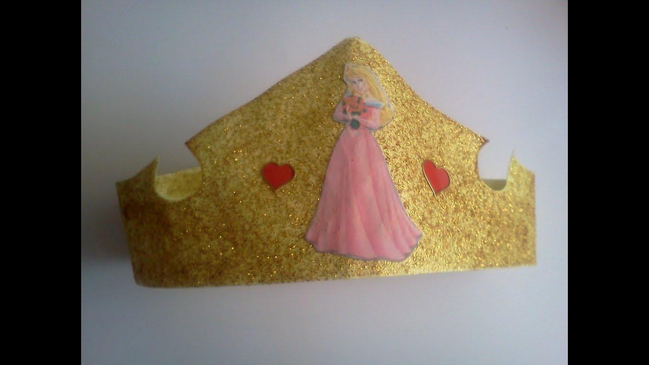 Idea express para cumpleaños Corona Princesa Aurora para invitadas ...