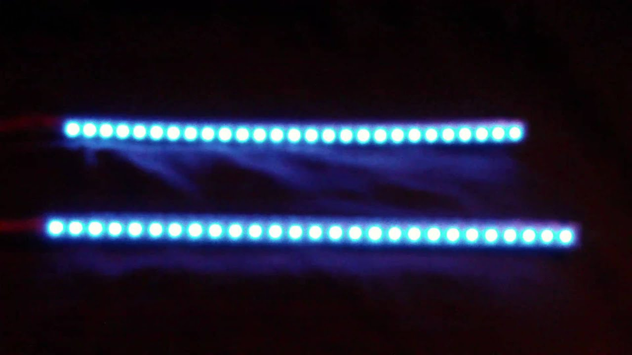 2x27 blue led knight rider strip light bar blue youtube aloadofball Image collections