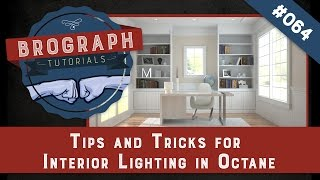 Brograph Tutorial 064 - Interior Lighting with Octane in Cinema 4D - Tips and Tricks