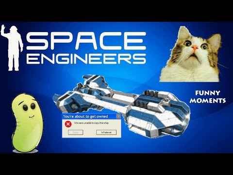 Space Engineers Funny Moments! | Blue Ship Crash, The Mini-Ship, Spaztic Ships |