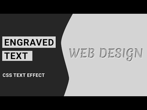 Engraved Text Effect using css | Tutorial For Beginners