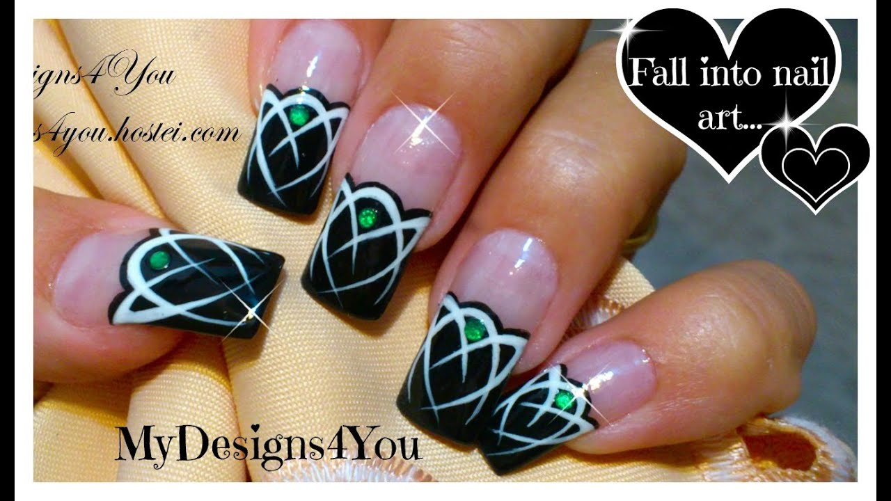 Celtic nail art tutorial emerald gem nails tattoo nails celtic nail art tutorial emerald gem nails tattoo nails youtube prinsesfo Image collections