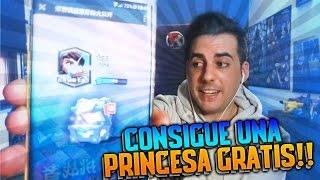 CONSIGUE UNA PRINCESA GRATIS!! | TRUCO LEGENDARIA GRATIS en Clash Royale Chino | Rubinho vlc