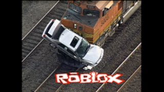 ROBLOX Preview - Freight Train Hits Flatbed Truck , Derails & Explodes