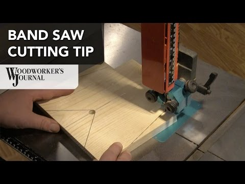 Tip for Making Angled Band Saw Cuts