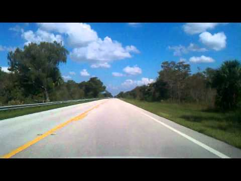 Tamiami Trail, heading to Miami...
