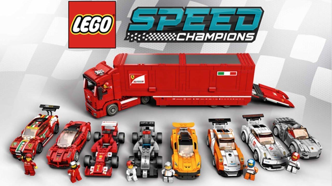 lego speed champions racing gameplay ferrari f14 t ford. Black Bedroom Furniture Sets. Home Design Ideas