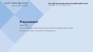 Procurement – Audit New Zealand Client Updates 2018