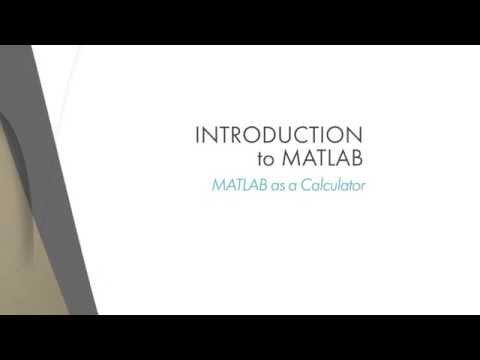 Lesson 1.4: MATLAB as a Calculator