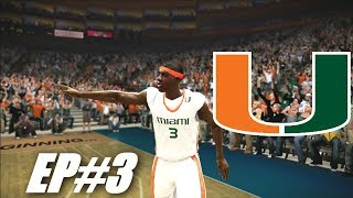 THE MIAMI HURRICANES INVADE NEW YORK - EPIC 3POINT SHOOTING - NCAA BASKETBALL 10 DYNASTY EP 3