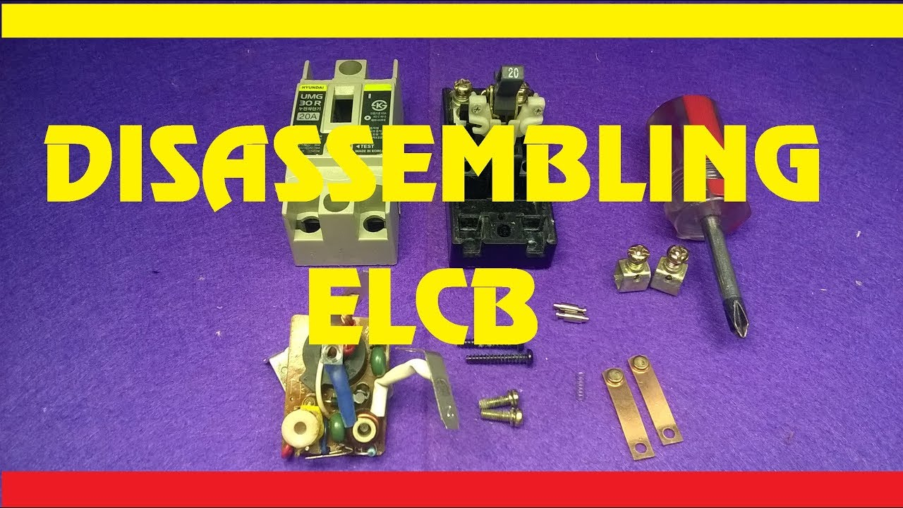 Look Inside Elcb Disassembling Youtube Circuit Diagram