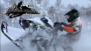 arcticcat m8000 alpha one vs polaris axys 850 2019 snowmobile temuresuman ようやくドン深パウダー来たぞー‼️