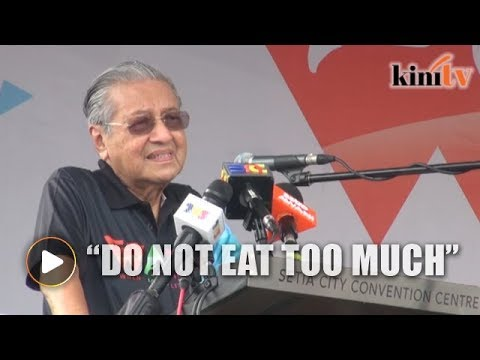 Dr Mahathir: Go out for 15 minutes to exercise