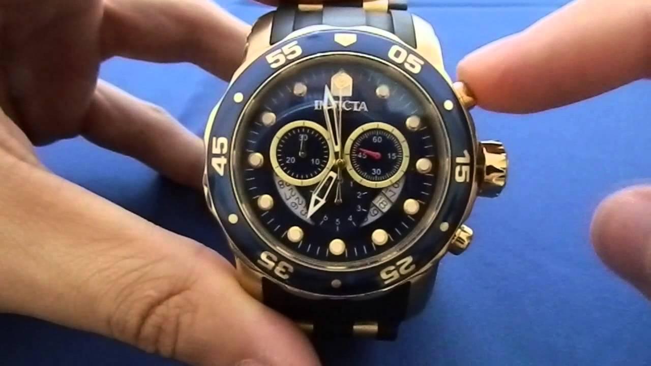 b36d551ad24 Como acertar ponteiros do Relógio Invicta - YouTube