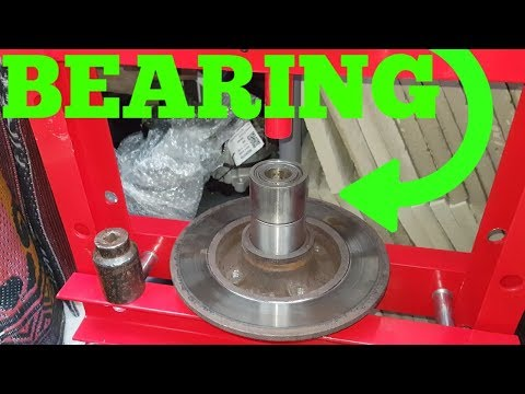 HOW TO REPLACE  REAR WHEEL BEARING ON PEUGEOT 307