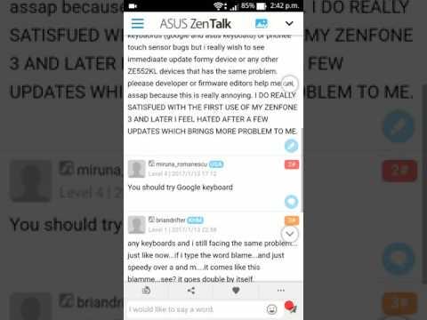 How to fix ASUS zenfone  3 keyboard bugs 2017