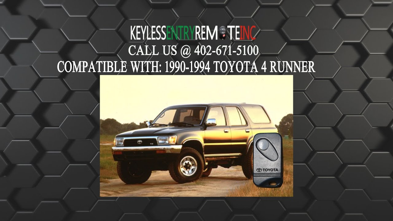 How to replace toyota 4 runner key fob battery 1990 1991 1992 1993 1994