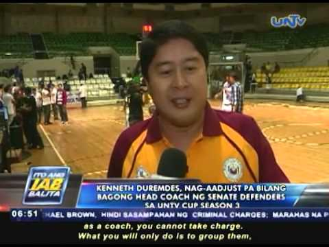Kenneth Duremdes Kenneth Duremdes nagaadjust pa bilang bagong head coach ng Senate