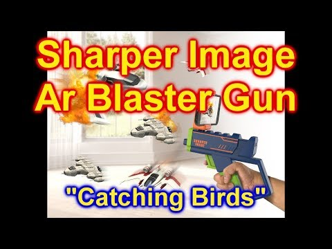 Sharper Image AR Blaster Augmented Reality Laser Game Catching Birds