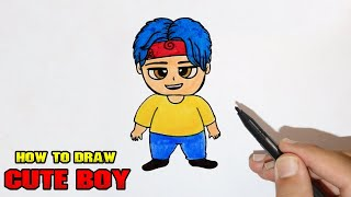 How to draw cute chibi anime boy step by step easy for beginners YouTube