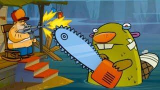 БОЛОТНАЯ Атака #3 Мультик Игра для детей БОЛОТНАЯ БИТВА Swamp Attack #КРУТИЛКИНЫ #КИД