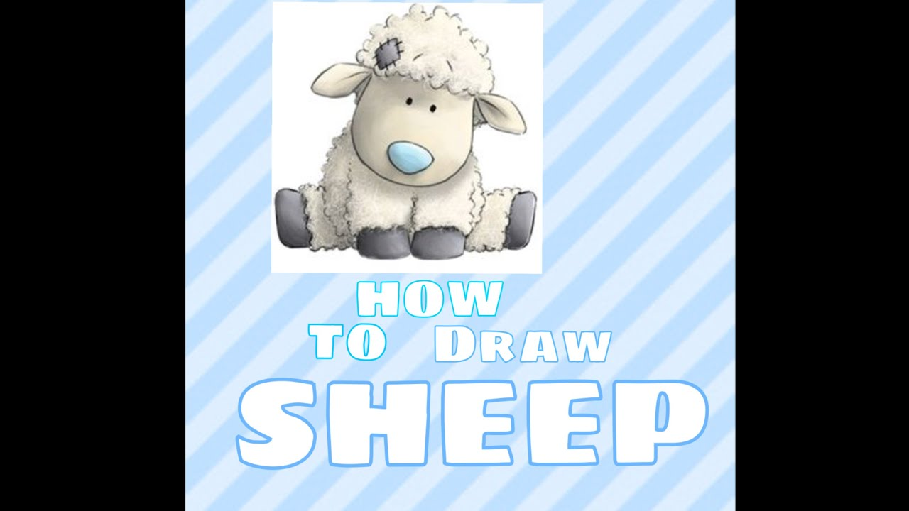 How to draw sheep from tatty teddy my blue nose friends youtube how to draw sheep from tatty teddy my blue nose friends sciox Images