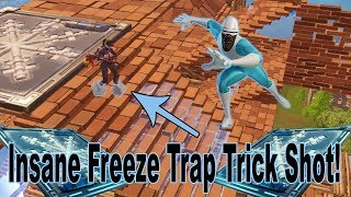 Fortnite Freeze Trap Trick Shot et Insane HighLights!
