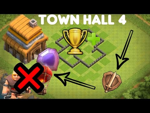 Best Defense Strategy for clash of clans Town Hall 4 - Anti Giants / Balloons