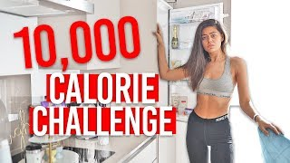10,000 CALORIE CHALLENGE! Eating 10,000 Calories in 24 hours.. MASSIVE CHEAT DAY! Girl Vs Food!