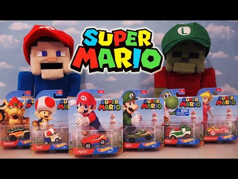 hot wheels super mario nintendo character cars die cast. Black Bedroom Furniture Sets. Home Design Ideas