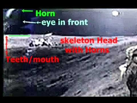 moon statue of giant skull found - youtube, Skeleton