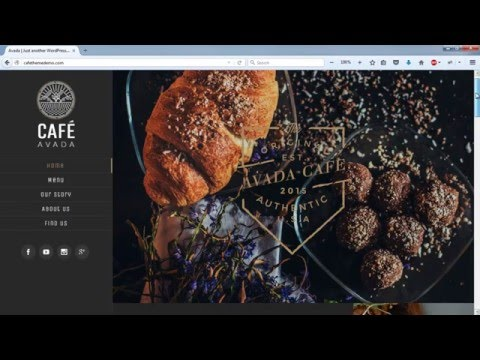 Create a Website - Restaurant and Cafe - WordPress Avada Theme