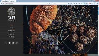 Create a Website - Restaurant and Cafe - WordPress Avada Theme
