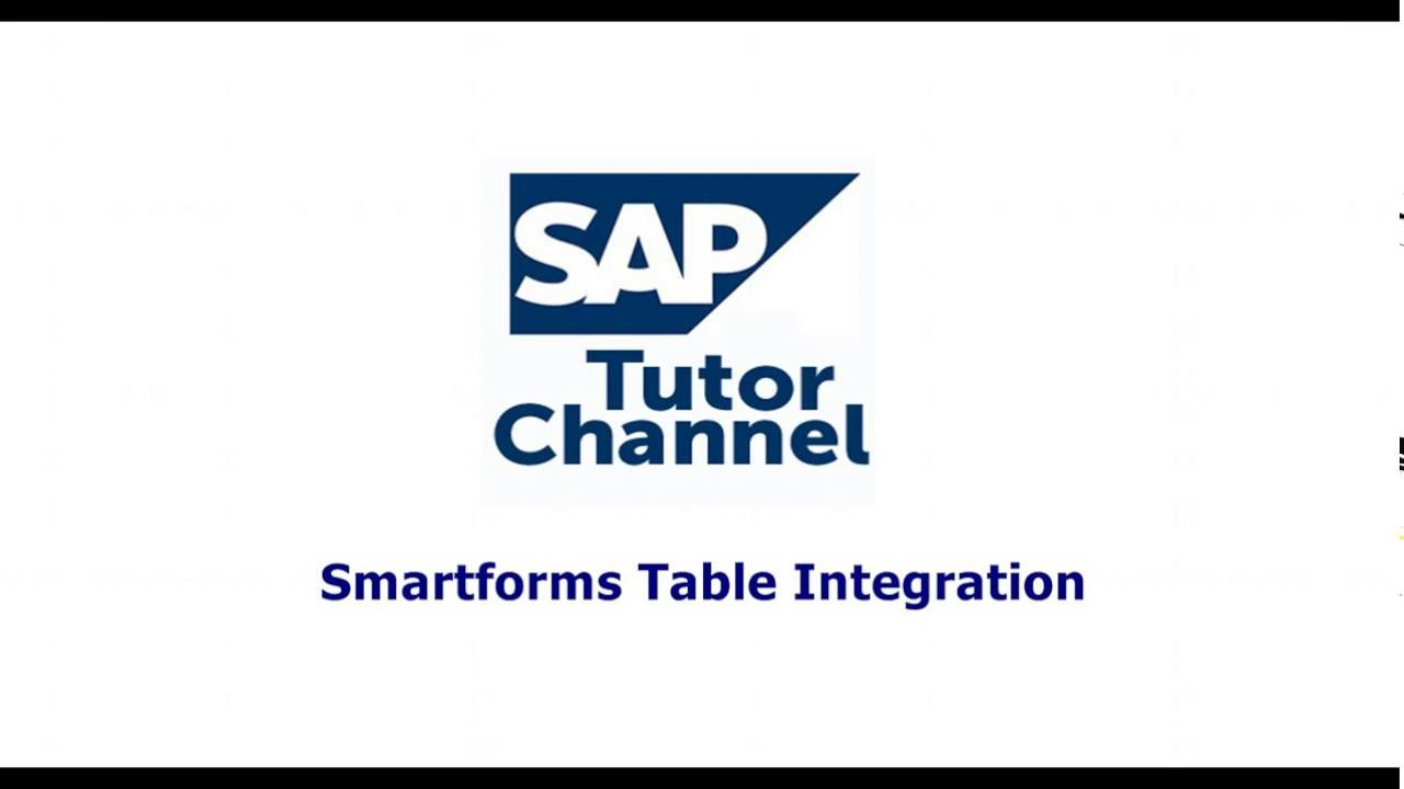 Smartforms Table Integration