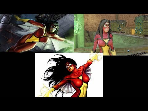 Evolution of Spider-Woman in Marvel Ultimate Alliance Games (2006 - 2009)