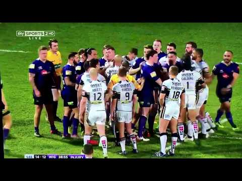 RUGBY LEAGUE FIGHT! Willie Isa v Ash Golding; Leeds Rhinos v Wigan Warriors.