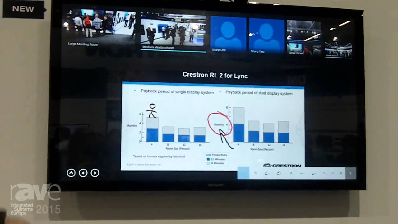 Ise 2015 Crestron Highlights Rl 2 Codec For Lync Room