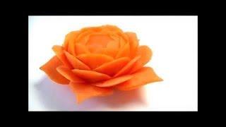 人参の飾り切り 細工野菜 🌼お花の作り方🌼 キャロットカービング  Art of vegetable Carrot carving Flower   How to make Garnish