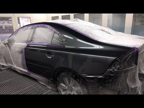 Volvo S80: Spray Painting